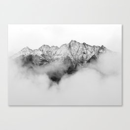 Peaks on the Mist Canvas Print