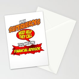 Funny Financial Advisor hero design - perfect gift Stationery Cards