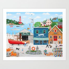 Where the Buoys Are Art Print