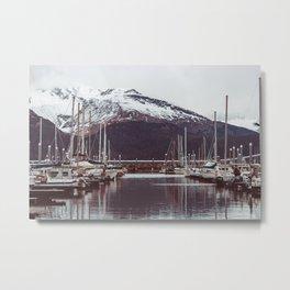 Seward Boat Harbor Vintage Style Metal Print
