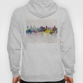 Ho Chi Minh skyline in watercolor background Hoody