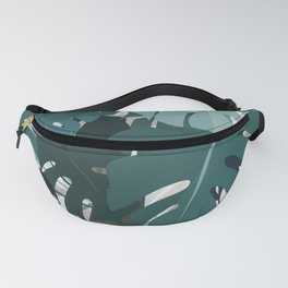 leaves+terrazzo Fanny Pack