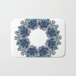 Indigo Bloom Portuguese Tiles – Gaia Bath Mat