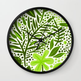 Garden – Lime Green Palette Wall Clock
