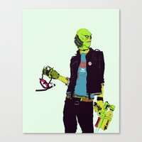 boneface Canvas Prints featuring Creature from the Black Lagoon by boneface