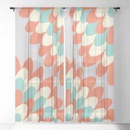 Dahlia at 70's Sheer Curtain