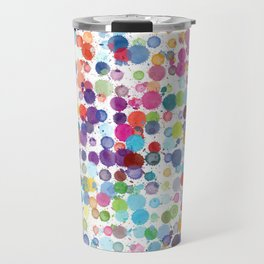 Watercolor Drops Travel Mug