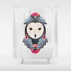 Owl 1 - Light Shower Curtain