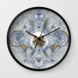 Eagle Sacred Geometry Digital Art Wall Clock