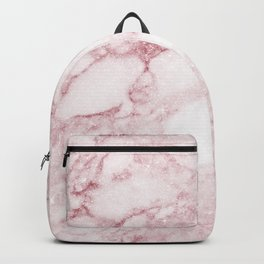 Elegant blush pink white chic marble glitter Backpack