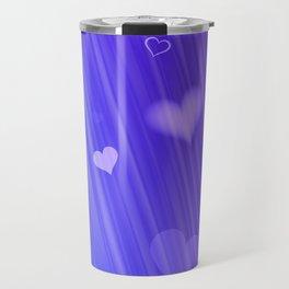 blue and heart Travel Mug