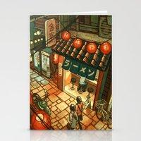 ramen Stationery Cards featuring Ramen in the Alley by Kerri Aitken