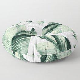 Tropical Banana Leaves Vibes #1 #foliage #decor #art #society6 Floor Pillow