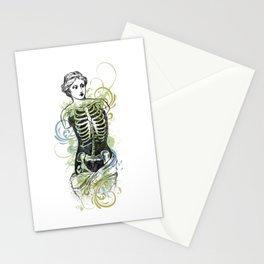 Skeleton Lady Venus Di Zombie Stationery Cards