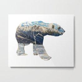 Tundra Polar Bear Metal Print