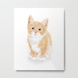 Cute Tiny Cat Metal Print