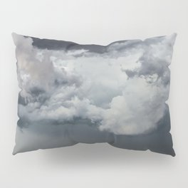 Cotton Candy - Storm Clouds Over Wheat Field in Kansas Pillow Sham