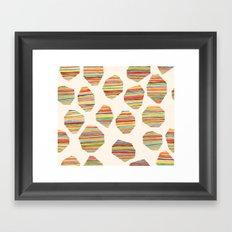 watercolor geometric lines Framed Art Print