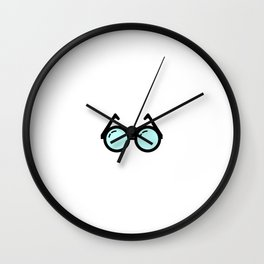 """"""" Nerdy By Nature"""" tee design for your nerdy friends and family! Makes a nice gift this holiday Wall Clock"""