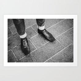Leather Shoes / London, UK Art Print