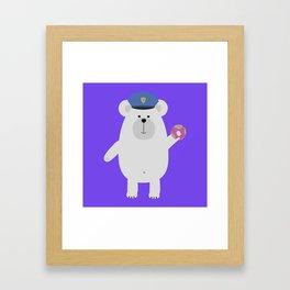 Polar Bear Police Officer Framed Art Print