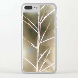 """Frost on Grass 2"" Nature Art by Murray Bolesta Clear iPhone Case"