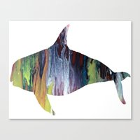 orca Canvas Prints featuring Orca  by FurittusDesigns