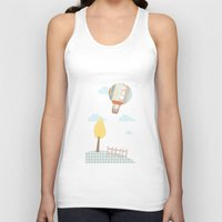 baloon Tank Tops featuring baloon collage by flying bathtub