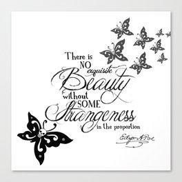 'Strange Skullerflies' -  Quotes - Edgar Allan Poe Canvas Print