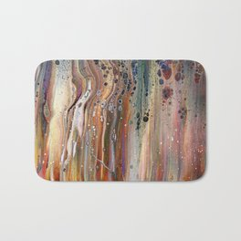 Fluid Acrylic IX - Abstract, original, acrylic pour painting Bath Mat