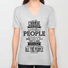 Doctor Who - We All Change Unisex V-Neck