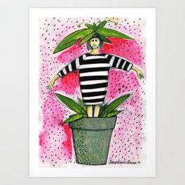 Flowergirl2 Art Print