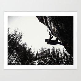 Climbers Silhouette #1 Art Print