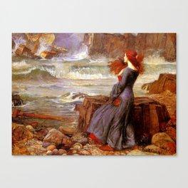 Miranda by John William Waterhouse  Canvas Print