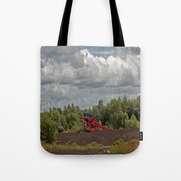An Old Painted Cart Tote Bag