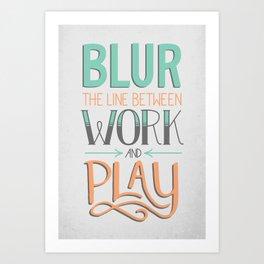 Work and Play Art Print
