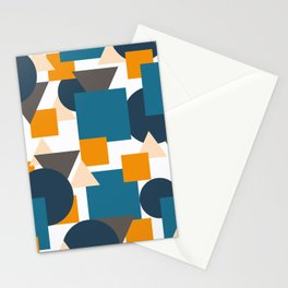 Geometric Mixture Stationery Cards