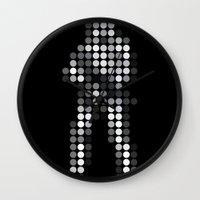 trooper Wall Clocks featuring Trooper by Triplea