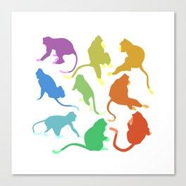 The Nine Monkeys Canvas Print