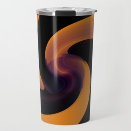 abstarct art with distorred lines Travel Mug