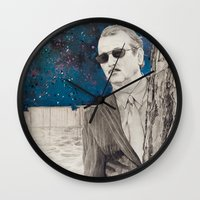 "rushmore Wall Clocks featuring ""Rushmore"" by Littlefield Designs"