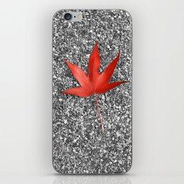 red autumn leaf iPhone Skin