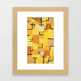 Paul Klee - Signs In Yellow Framed Art Print