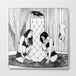 asc 554 - Les femmes de Carlo (The Eye watching over his women) Metal Print