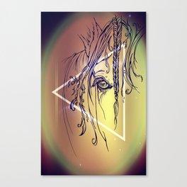 Delicate: Triangled Canvas Print