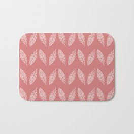 Tropical foliage Flamingo Pink #tropical #leaves #homedecor Bath Mat