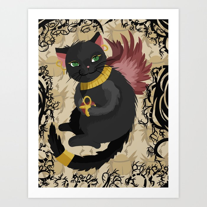 Bastet Cat Goddess Art Print By Noreentorelli Society6