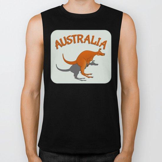 Kangaroo Australia Biker Tank