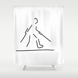 leg broken osseous break Shower Curtain