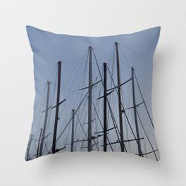 Yacht deck details and design elements Throw Pillow
